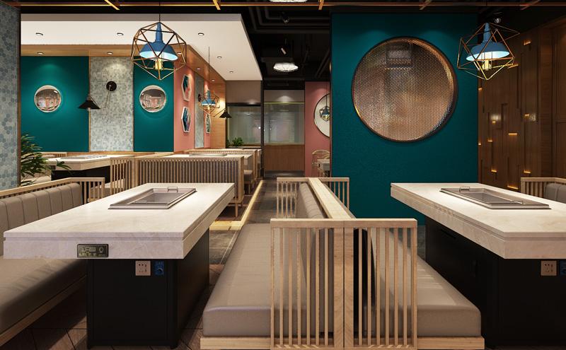 现代简约餐饮烧烤店河北11选5玩法介绍设计