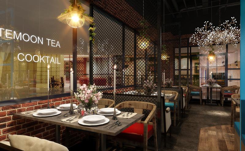 彩蝶西餐厅工业风格beplay体育网页版设计