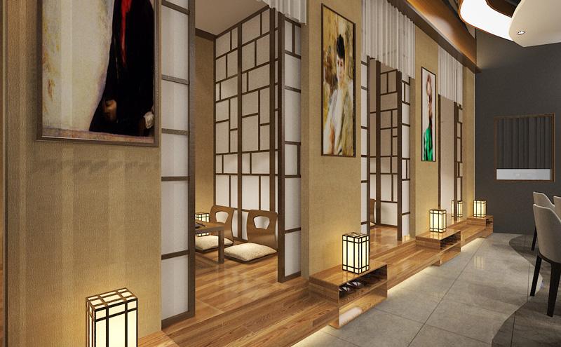 上野樱花日料餐饮室内装饰工程